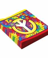 16x hippie themafeest servetjes 33 cm