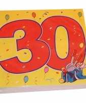 20x papieren servetjes 30 jaar confetti thema feestartikelen 33 x 33 cm