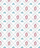 20x papieren servetjes wit met stippenprint 33 x 33 cm