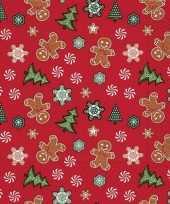20x rode kerst tafelversiering snoepgoed papieren servetten
