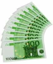 30x papieren servetten honderd euro biljetten