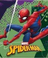 40x marvel spiderman feestartikelen servetjes 33 x 33 cm papier