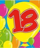40x papieren servetjes 18 jaar balloons thema feestartikelen 25 x 25 cm