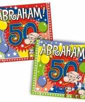40x papieren servetjes abraham 50 jaar thema feestartikelen 25 x 25 cm