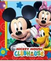 40x papieren servetjes mickey mouse thema feestartikelen 33 x 33 cm