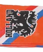 40x papieren servetjes oranje supporters leeuwen leeuwinnen thema feestartikelen 33 x 33 cm
