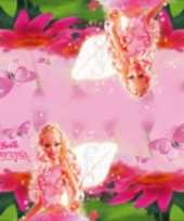 40x papieren servetjes roze barbie thema feestartikelen 33 x 33 cm