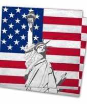 40x servetten met vlag van verenigde staten