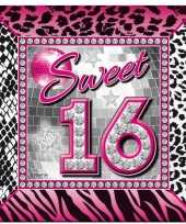 40x sweet 16 servetten wegwerpservies