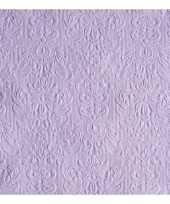 45x luxe servetten barok patroon paars 3 laags
