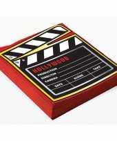 60x film thema feest servetjes 33 x 33 cm print filmbord