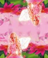 60x papieren servetjes roze barbie thema feestartikelen 33 x 33 cm