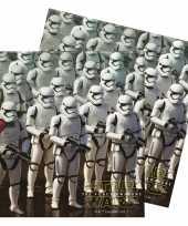 60x papieren servetjes star wars thema feestartikelen 33 x 33 cm