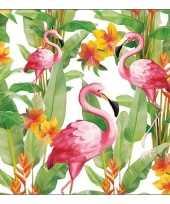 60x papieren servetjes tropische vogel print 33 x 33 cm