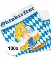 Beieren thema servetten 100 stuks