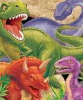 Dinosaurus thema servetten 16 stuks