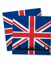 Engelse vlag servetten 20 stuks