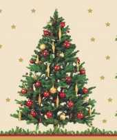 Kerst servetten kerstboom thema