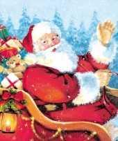 Kerst tafereel servetten 33 x 33 cm