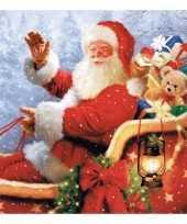 Kerstversiering servetten met kerstman