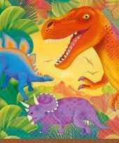 Kinderfeestje dinosaurus servetten 16 stuks