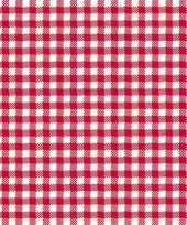 Lunchservetten met een ruit print rood wit 3 laags 20 stuks