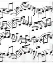 Muziek thema servetten 48 stuks