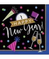 Oud en nieuw servetten happy new year 16 stuks