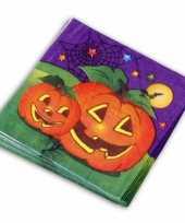 Papieren halloween servetten 60 stuks