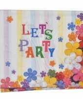 Papieren party servetten 16 stuks