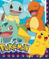Pokemon thema lunchservetten 48 stuks
