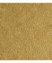 Servetten gouden barok 3 laags 30x stuks