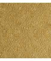Servetten gouden barok 3 laags 45x stuks