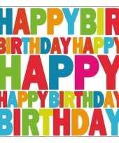 Servetten happy birthday 33 cm