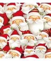 Servetten met kerstmannen print 33x33 cm
