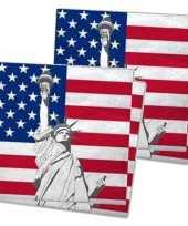 Servetten met vlag van verenigde staten 40x