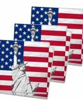 Servetten met vlag van verenigde staten 60x