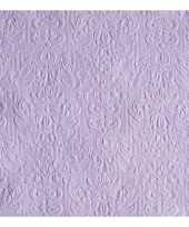 Servetten paarse barok 3 laags 15 stuks