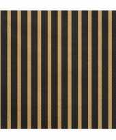 Servetten zwart goud 60 stuks 33 cm