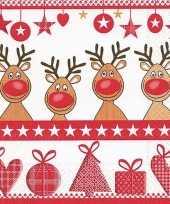 Sjieke kerst servetten met rendieren