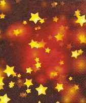 Sjieke kerst servetten met sterren 10076401