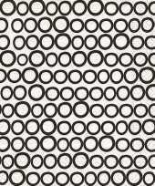 Wegwerp servetten met zwart witte cirkels 20 stuks